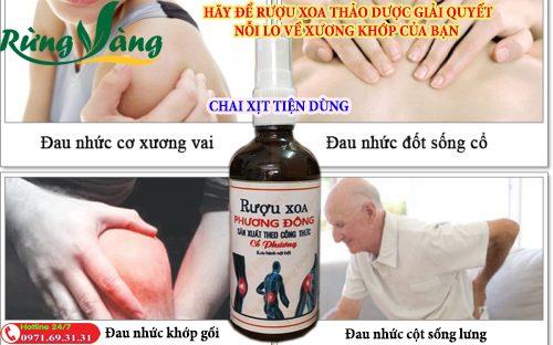 Rượu xoa bóp Phương Đông Giải Pháp giúp bạn xua tan nỗi lo bệnh xương khớp