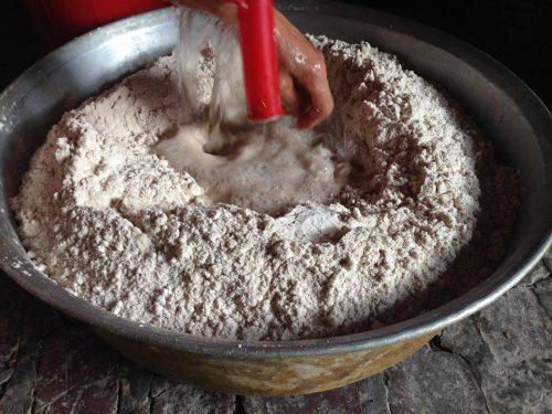 bột gạo ngâm nước 12 h