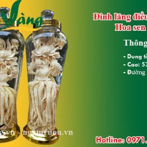 bình đinh lăng điêu khắc hoa sen 7 lít